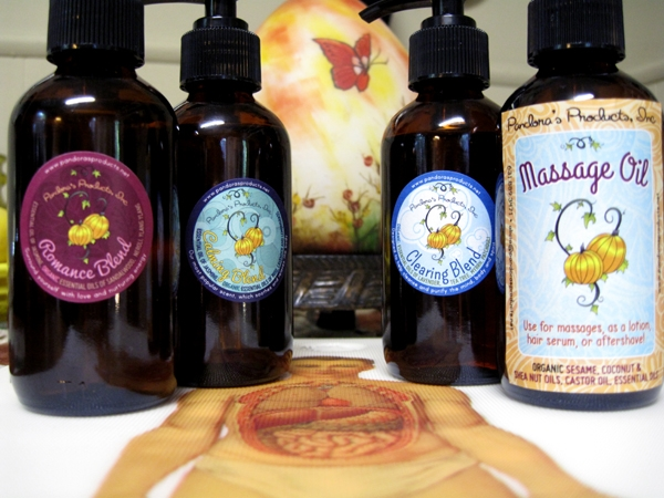 Calming, Clearing, Romance Massage Oils