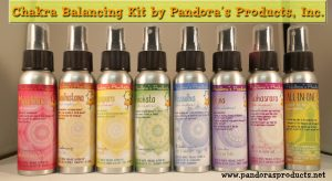 Our complete line of chakra balancing sprays
