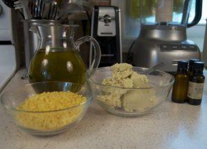 butters, wax, oils